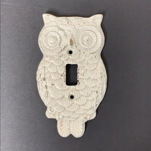 White distressed Light Switch Plate